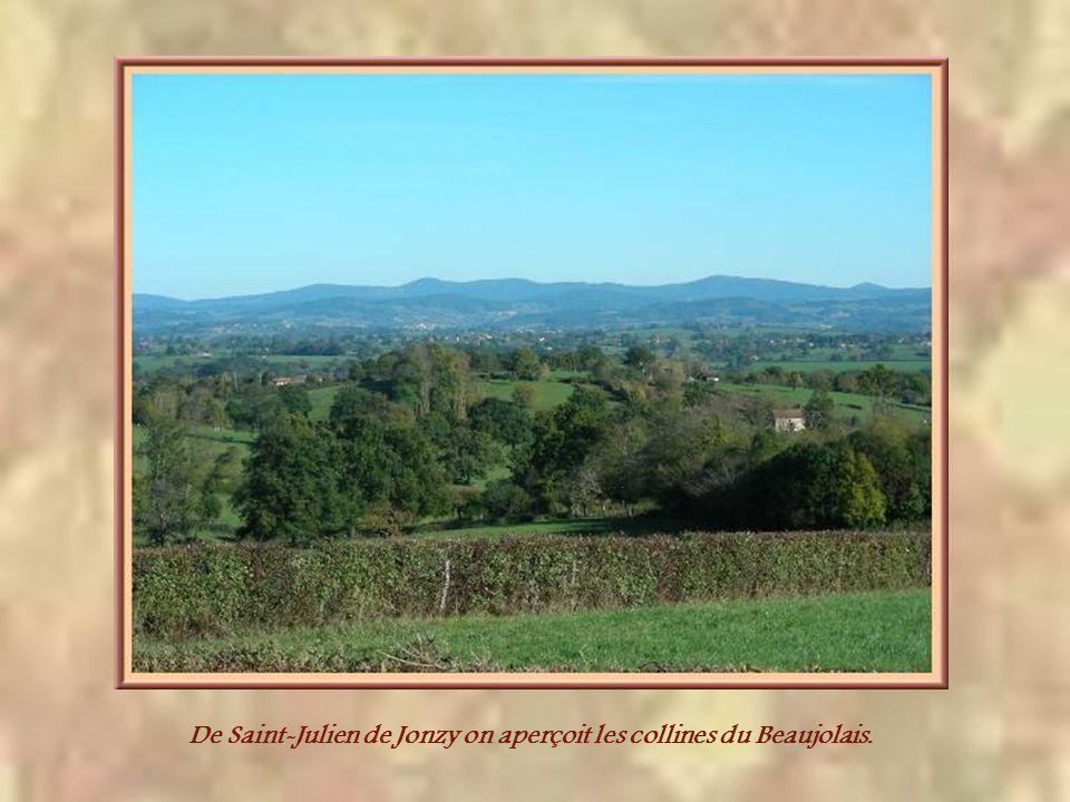 Perché, lui aussi, le chef-lieu de canton, Semur-en-Brionnais. A droite, la tour qui subsiste du château fort où naquit Saint Hugues., supérieur célèb