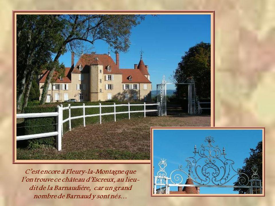 Le château de Dinechin, à Fleury-la- Montagne, tirerait son nom de « dîner de chien » Il possédait sa propre chapelle dédiée à Saint Roch et bâtie au XVIIe siècle.