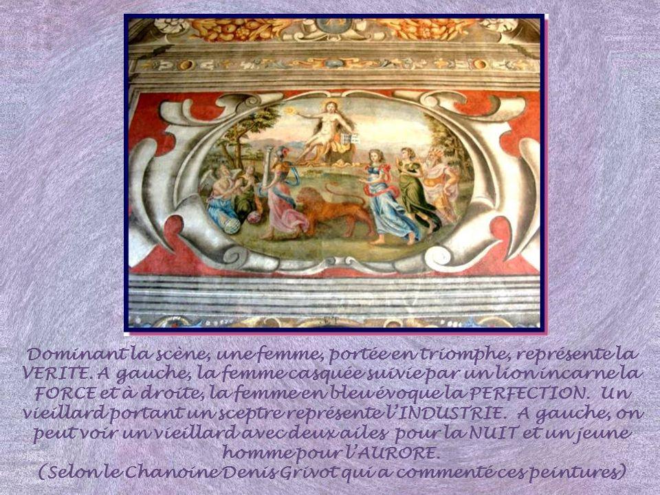 Des peintures ont été réalisées sur le plafond à la française et le manteau de la cheminée, à la fin du XVIe siècle, probablement commandées par Franç
