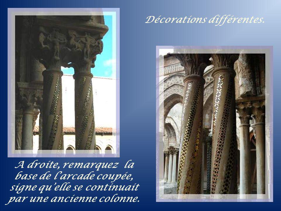 Le chapiteau de la dédicace : le roi Guillaume II qui soutient son cadeau devant la Vierge et lEnfant.