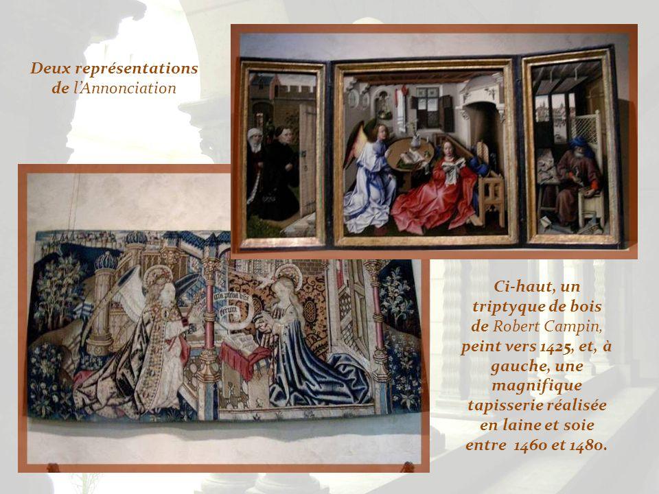 Egalement du XVe siècle, ce Jésus sur son âne, provenant de Bavière, ma séduite… Dans cette salle, voisinent une Vierge agenouillée du XVe siècle, ven
