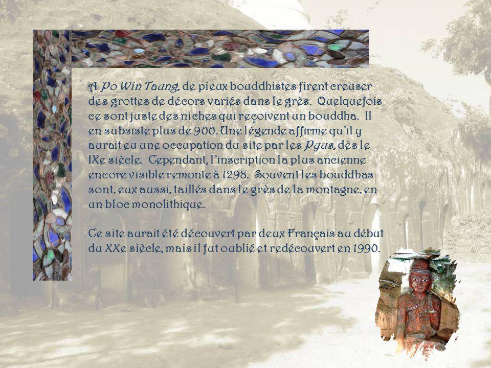 Lentrée du village de Po Win daung.