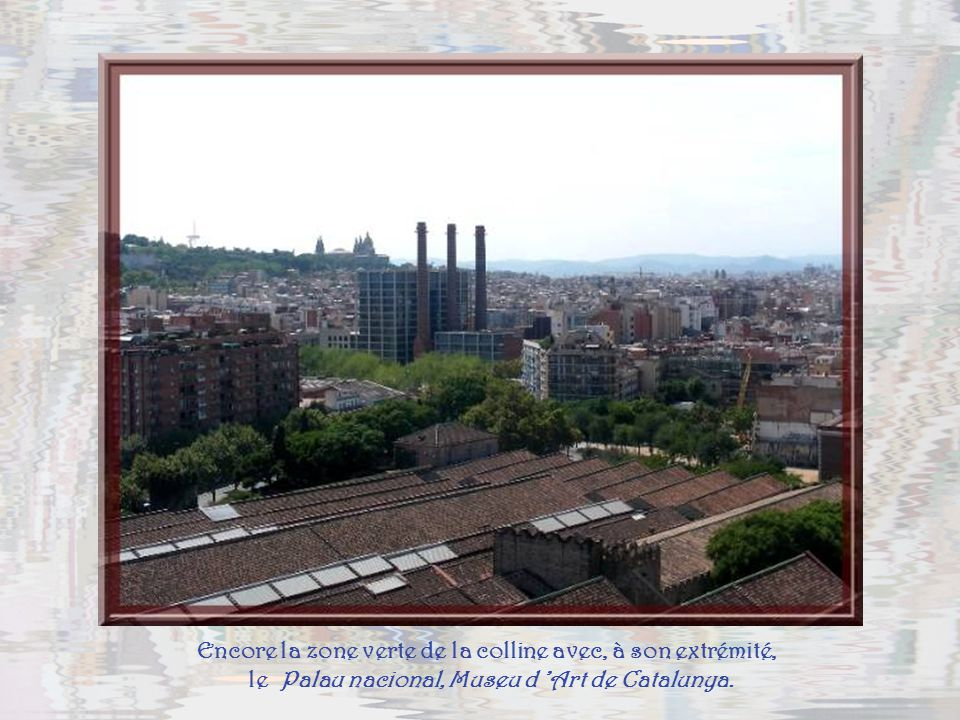 Une partie du port et de la colline de Montjuïc, qui doit son nom au fait quune colonie juive se serait installée à sa base, au XIVe siècle....