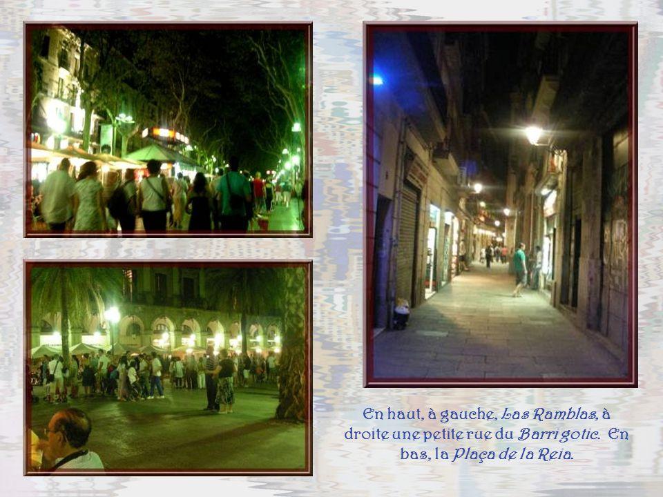 Il faut également voir Barcelone le soir. Ses rues et places sont aussi vivantes que dans la journée. Et la lumière leur donne un caractère festif par