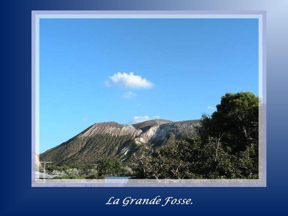 Topographie de lîle de Lipari.
