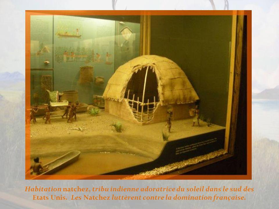 En Amérique du Nord, la maison longue chez les Iroquois.