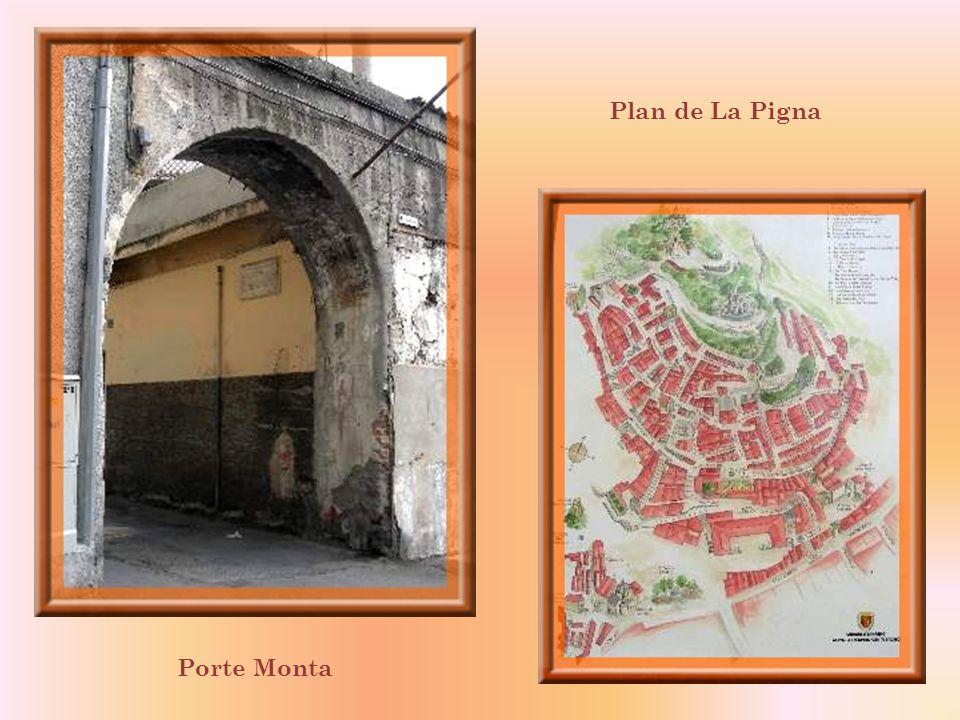 Beaucoup plus vaste que celui du Piano, le quartier de La Pigna, vieille ville médiévale, saccroche aux flancs de la colline, autour de ce qui fut un