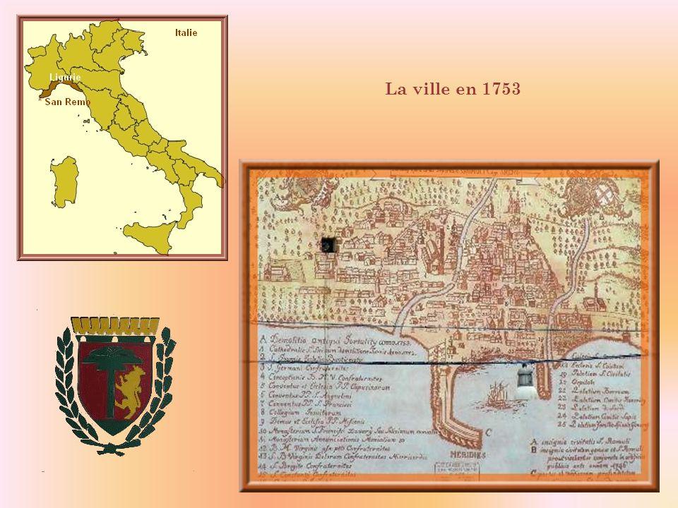 La ville de San Remo (60 000h.) est située en Italie, dans la Province de la Ligurie, sur la côte méditerranéenne, à seulement 17 km de la frontière f