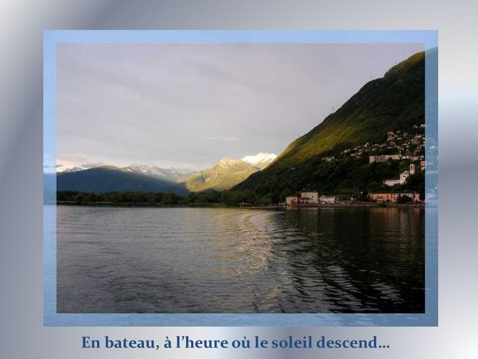 Vue sur Locarno, Losone et Ascona.