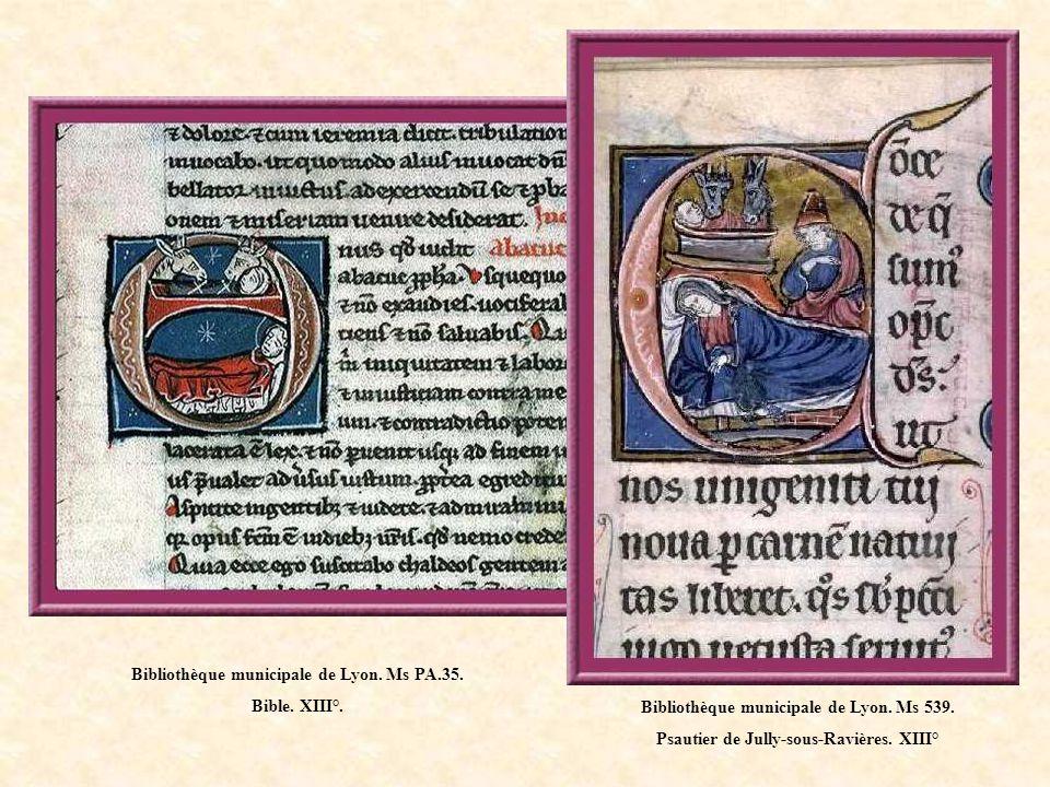 Bibliothèque municipale de Lyon. Ms 539. Psautier de Jully-sous-Ravières. XIII°.