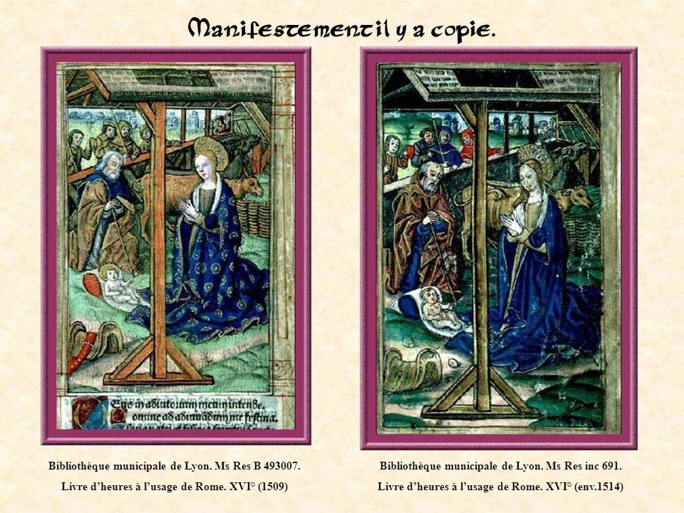 Bibliothèque de Lyon. Ms 5999. Livre dheures en flaman. Début XVI°.
