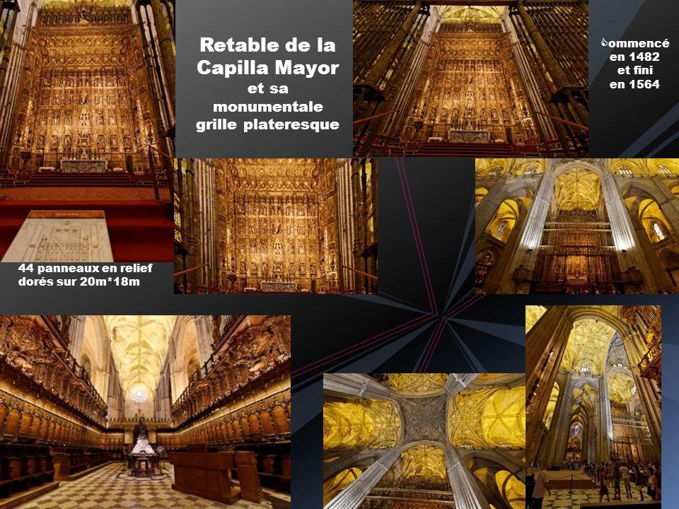 Vitrail de la nef centrale Sépulcre du cardinal Cervantes