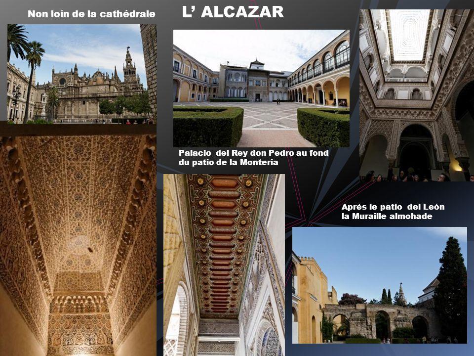 Non loin de la cathédrale L ALCAZAR Après le patio del León la Muraille almohade Palacio del Rey don Pedro au fond du patio de la Monteria