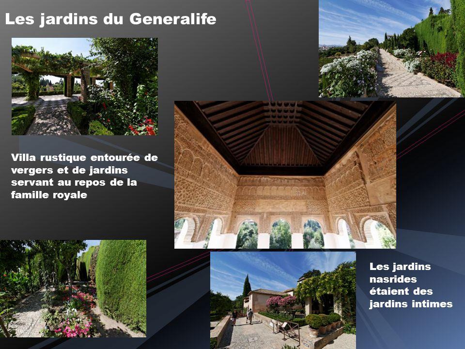 Goûtons la fraicheur des patios avant de rejoindre le Generalife