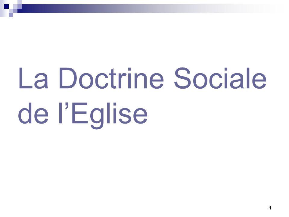 1 La Doctrine Sociale de lEglise