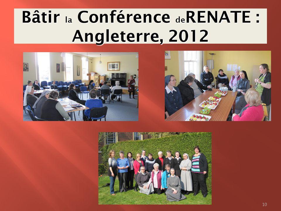 Bâtir la Conférence de RENATE : Angleterre, 2012 10