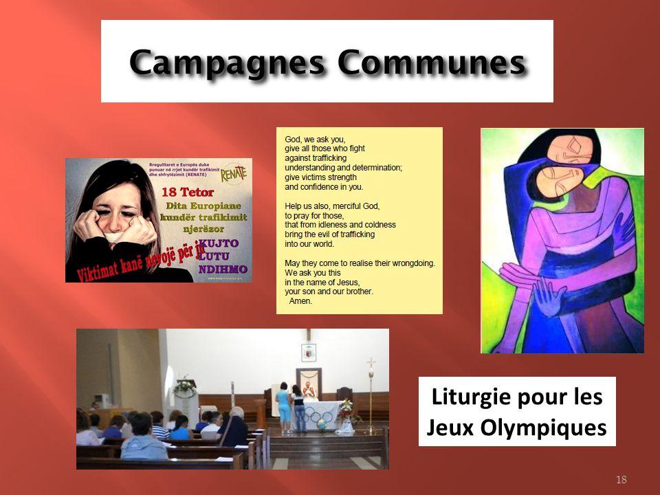 Campagnes Communes Liturgie pour les Jeux Olympiques 18