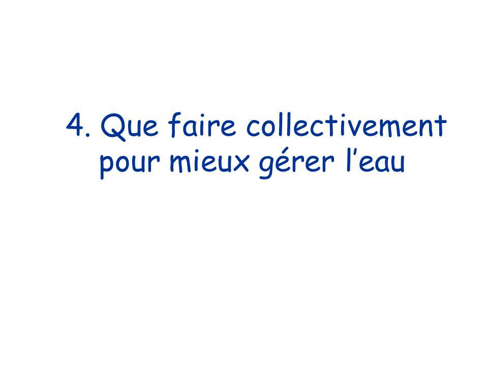 4. Que faire collectivement pour mieux gérer leau