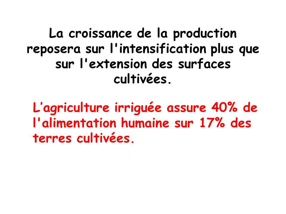 La croissance de la production reposera sur l intensification plus que sur l extension des surfaces cultivées.