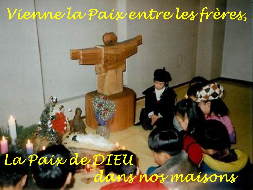 Vienne la Paix sur notre terre, la Paix de DIEU pour les nations !