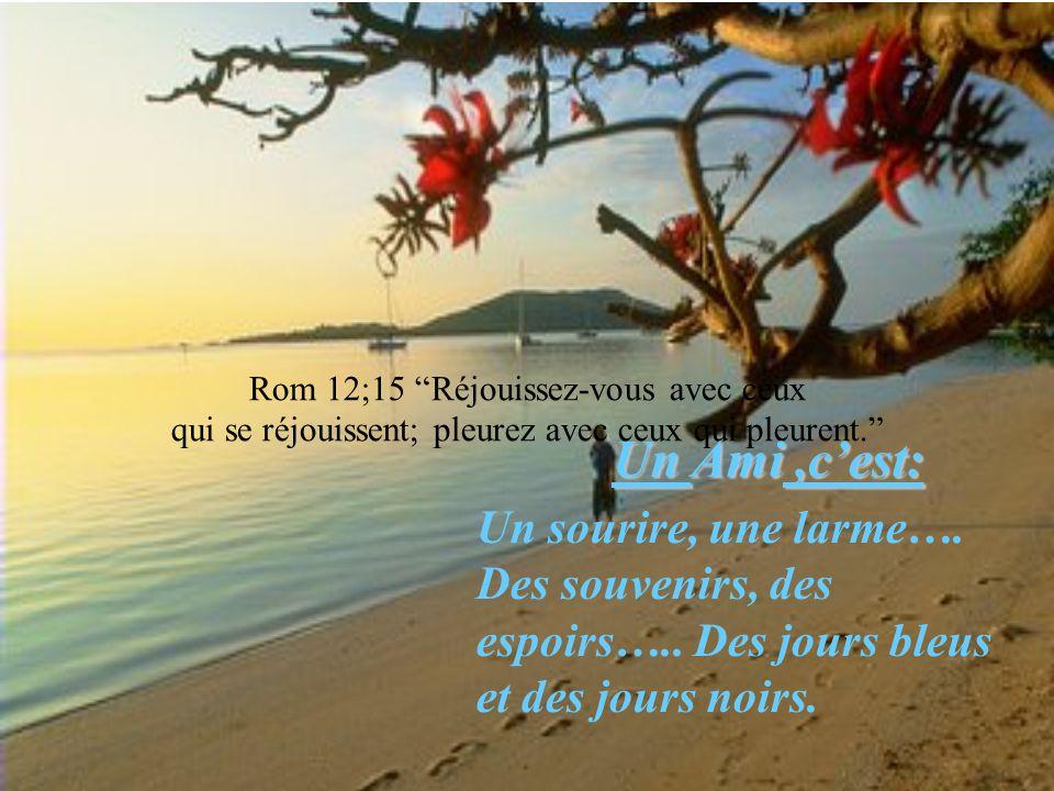 He 13;1 Persévérez dans l'amour fraternel. S'il fallait mettre un nom sur l'amitié, Pour refléter le visage du bonheur Et pour y voir briller un souri