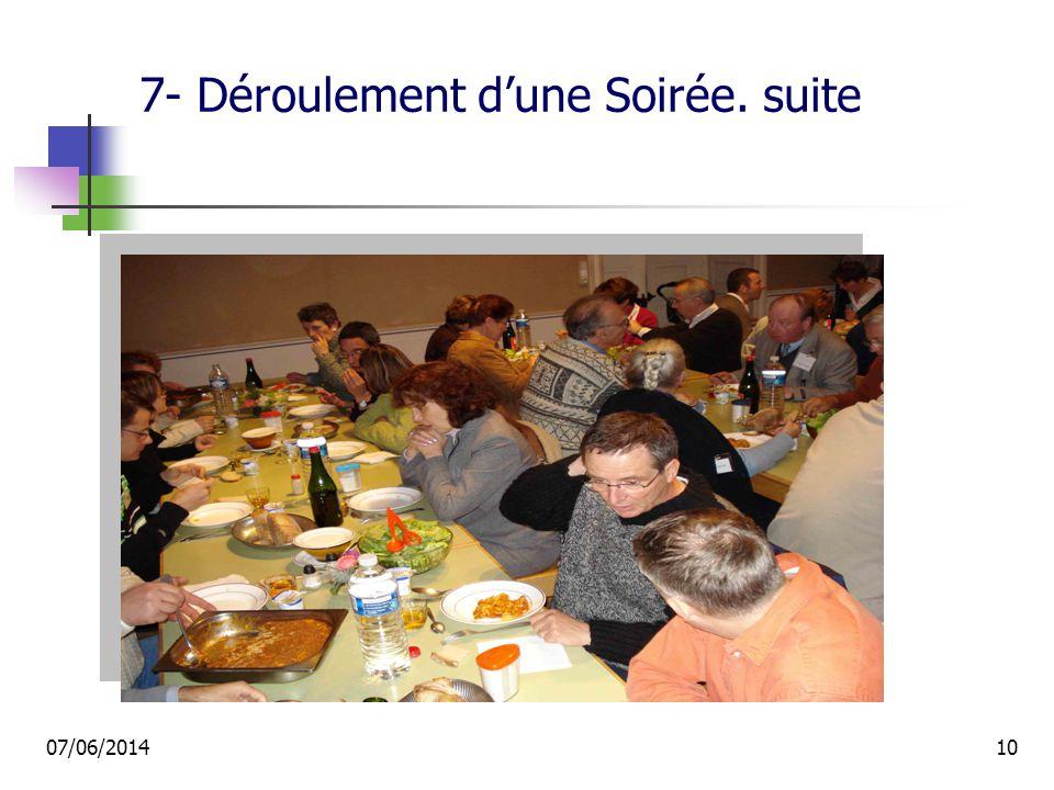 7- Déroulement dune Soirée. suite 07/06/201410