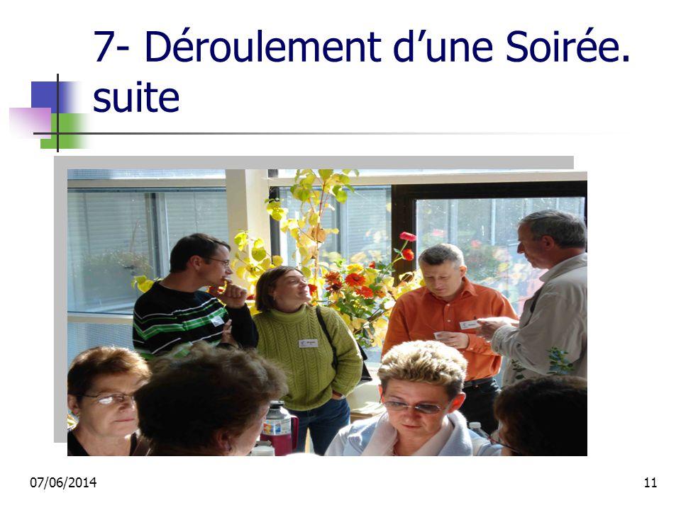 7- Déroulement dune Soirée. suite 07/06/201411