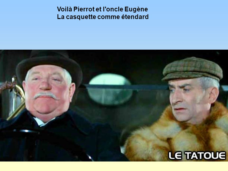 Voilà Pierrot et l oncle Eugène La casquette comme étendard