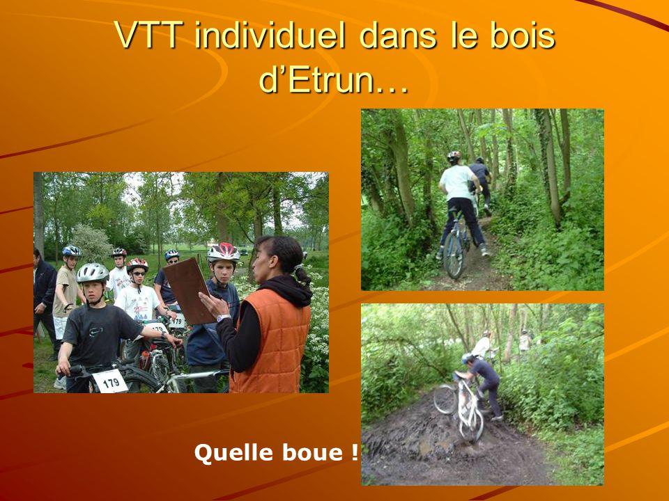 VTT individuel dans le bois dEtrun… Quelle boue !