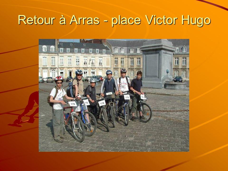 Retour à Arras - place Victor Hugo