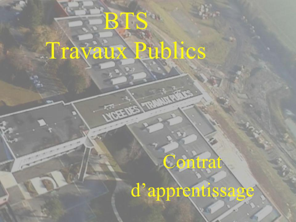 BTS Travaux Publics Contrat dapprentissage