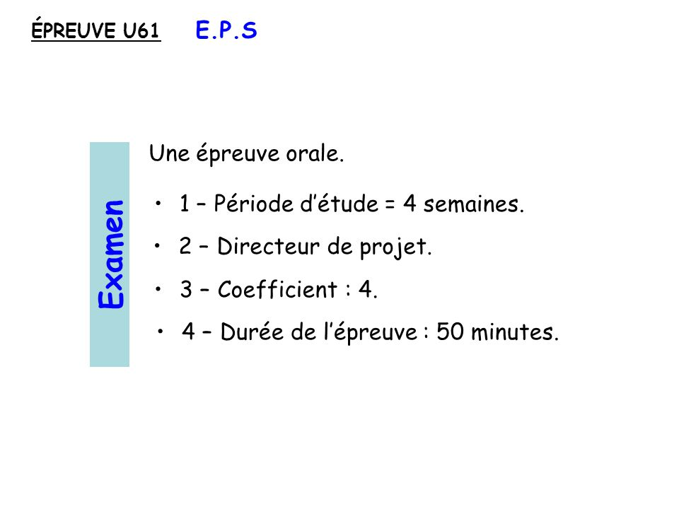 4 – Durée de lépreuve : 50 minutes.3 – Coefficient : 4.