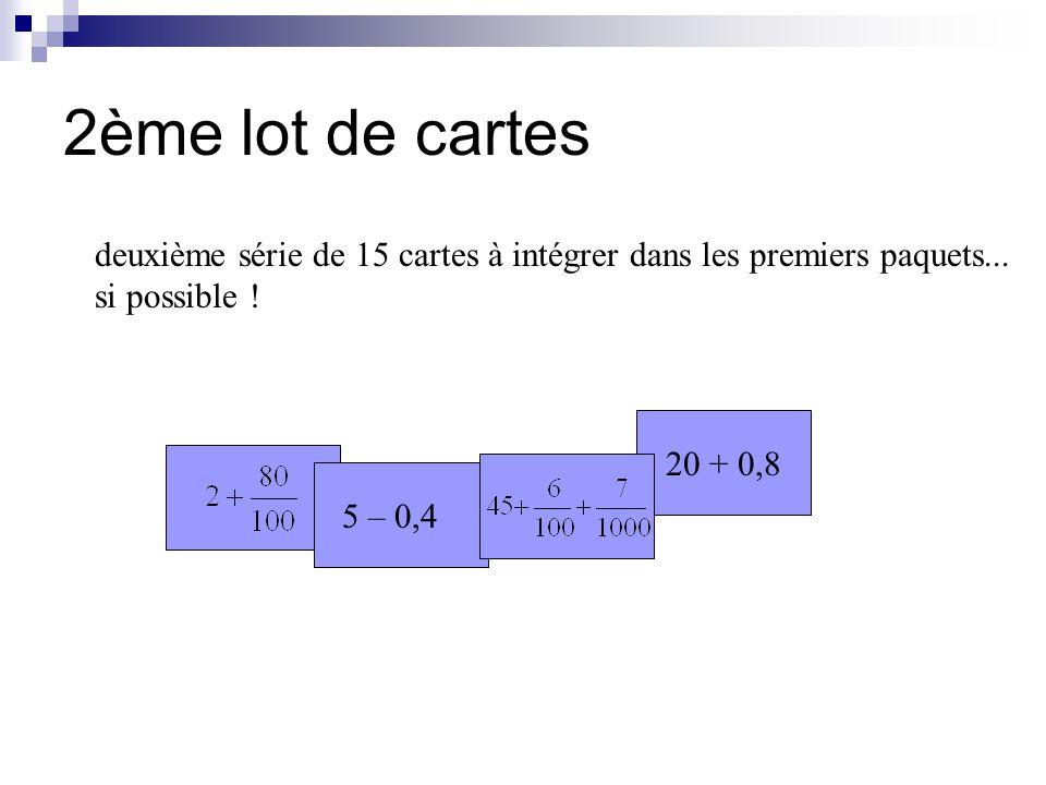 Exemples de classements obtenus « écritures avec les mêmes chiffres » écritures à virgules ( différenciées selon le nombre de chiffre après la virgule ) écritures avec fractions ( différenciées selon les dénominateurs ) les entiers les écritures à virgule les fractions