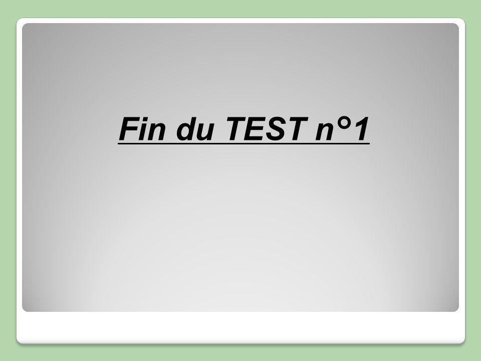 Fin du TEST n°1