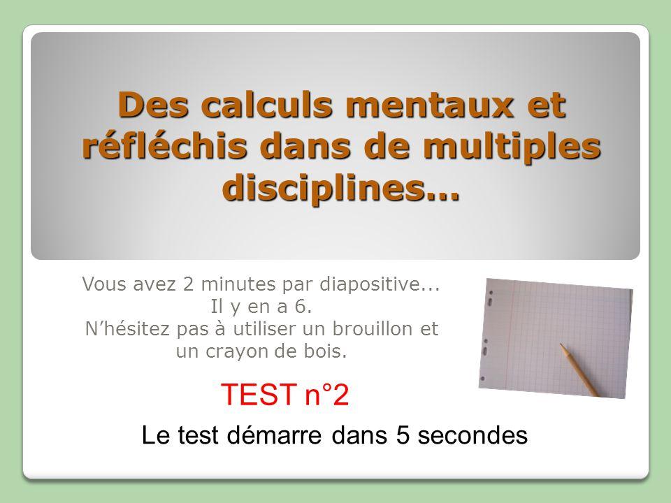Fin du TEST n°2