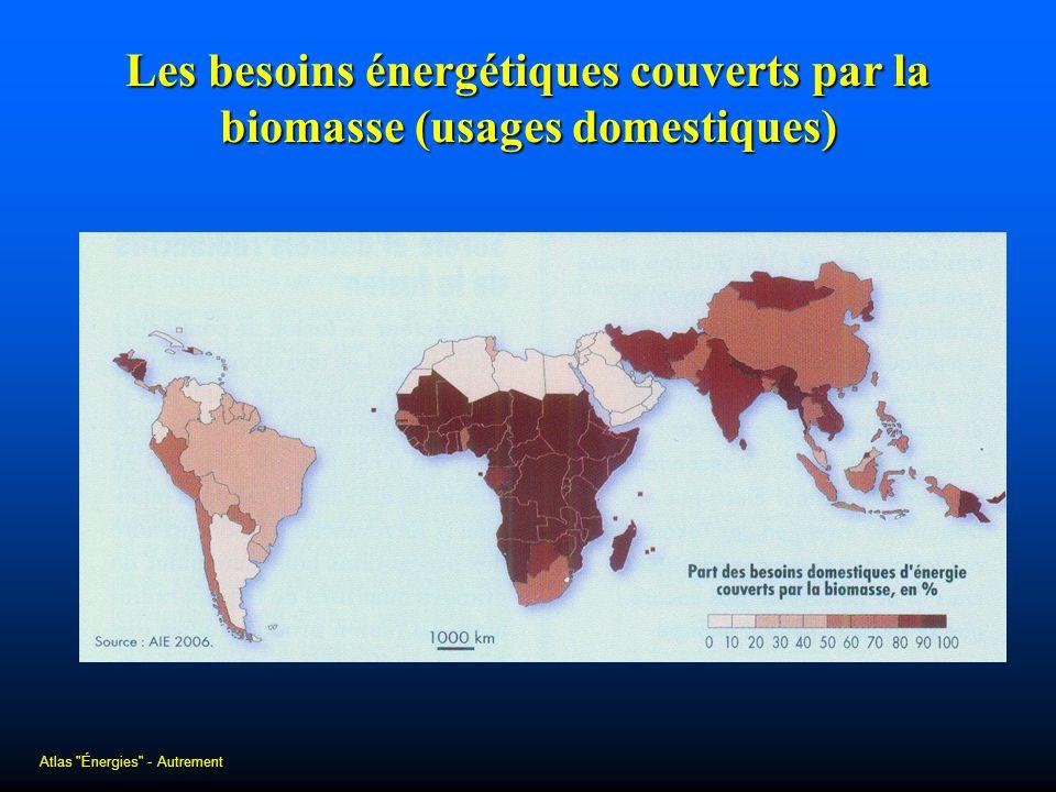 Les besoins énergétiques couverts par la biomasse (usages domestiques) Atlas
