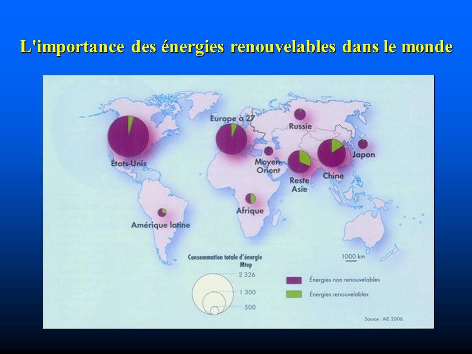 L'importance des énergies renouvelables dans le monde