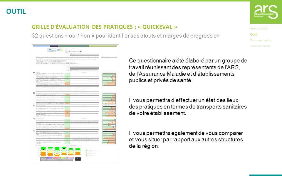 GRILLE DÉVALUATION DES PRATIQUES : « QUICKEVAL » 32 questions « oui / non » pour identifier ses atouts et marges de progression Ce questionnaire a été