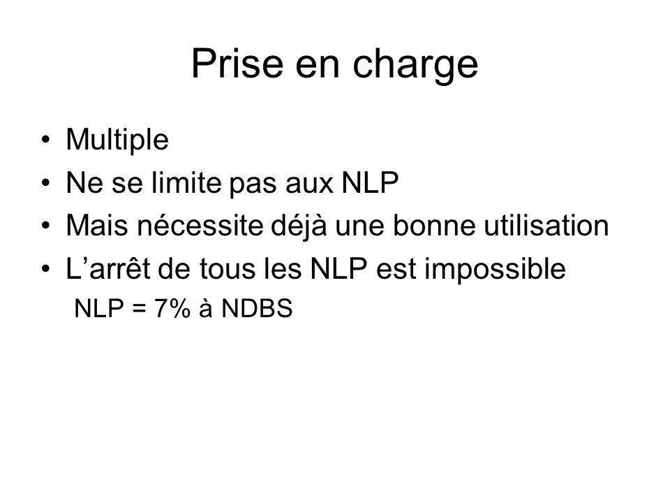 Prise en charge Multiple Ne se limite pas aux NLP Mais nécessite déjà une bonne utilisation Larrêt de tous les NLP est impossible NLP = 7% à NDBS