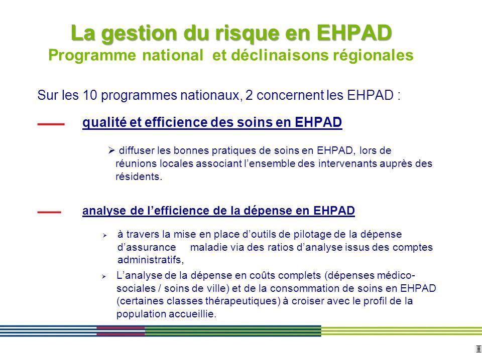 3 ARS Ile de France Direction de loffre de soins et médico-sociale 12 avril 2010 Diapositive : 3 La gestion du risque en EHPAD La gestion du risque en