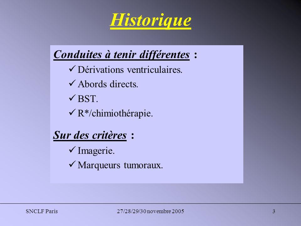 SNCLF Paris27/28/29/30 novembre 20054 Neuroendoscopie Intérêt double : Ventriculocisternostomie (hydrocéphalie).