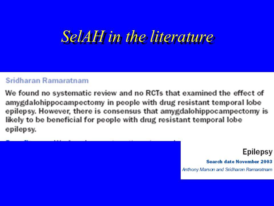 SelAH in the literature