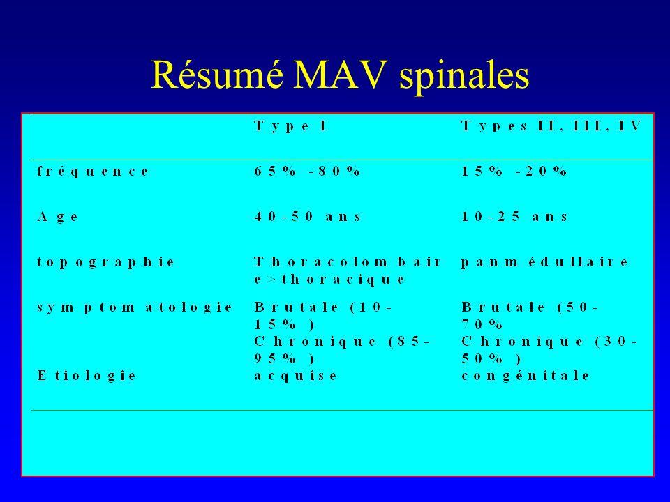 Résumé MAV spinales
