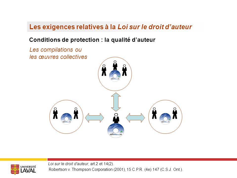 Létendue de la protection > Revendiquer la création du logiciel compte tenu des usages du domaine (par ex.