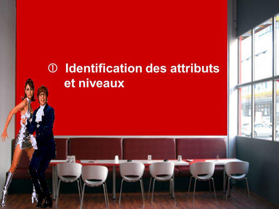 Identification des attributs et niveaux