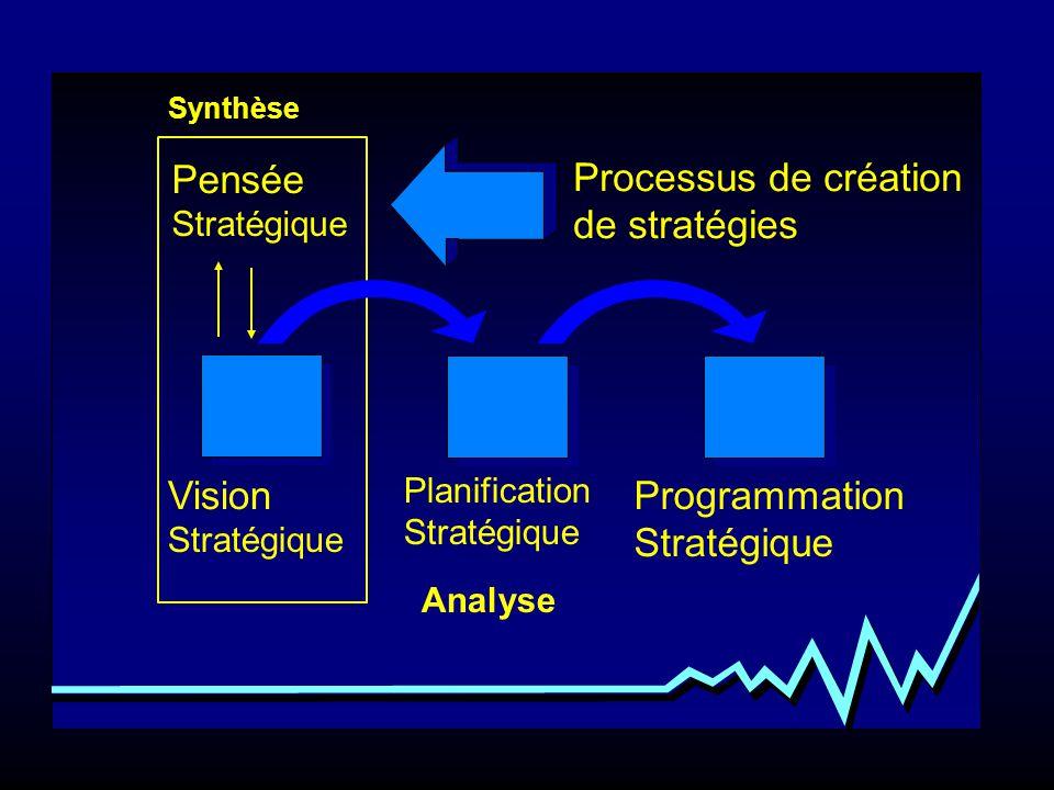 Management Stratégique Planification Stratégique Programmation Stratégique Analyse Pensée Stratégique Vision Stratégique Processus de création de stra