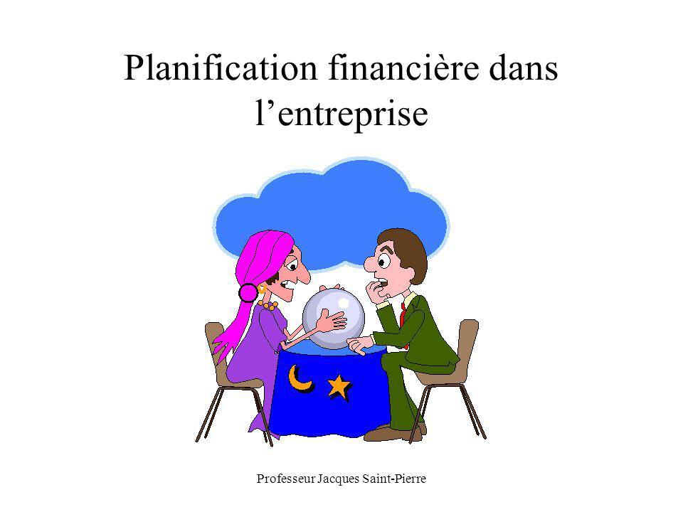 Professeur Jacques Saint-Pierre Planification financière dans lentreprise