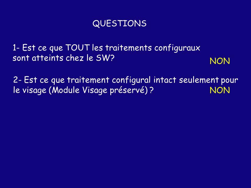 QUESTIONS 1- Est ce que TOUT les traitements configuraux sont atteints chez le SW.