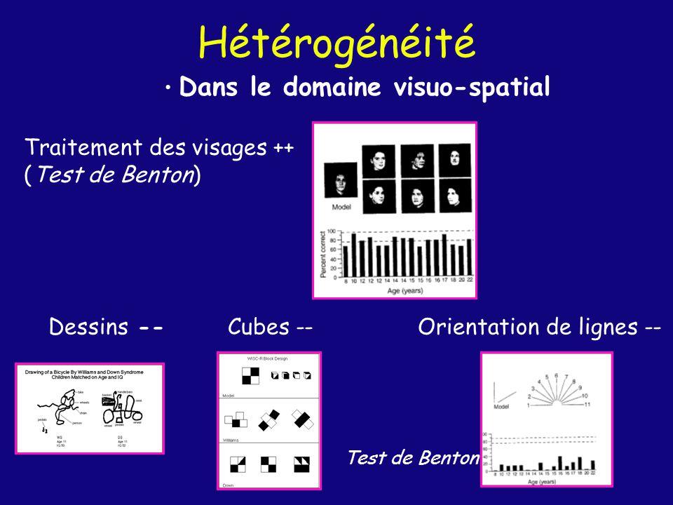 Production/Perception Déficit visuo-constructif vient-il dun déficit dans perception des configurations.