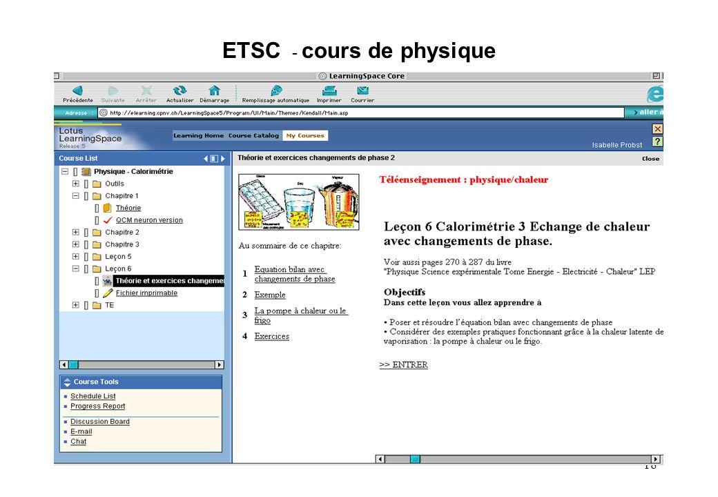 18 ETSC - cours de physique